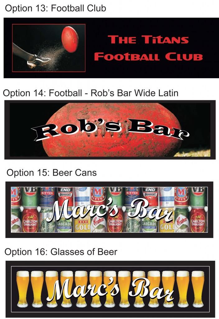 Bar Runner Options NEW